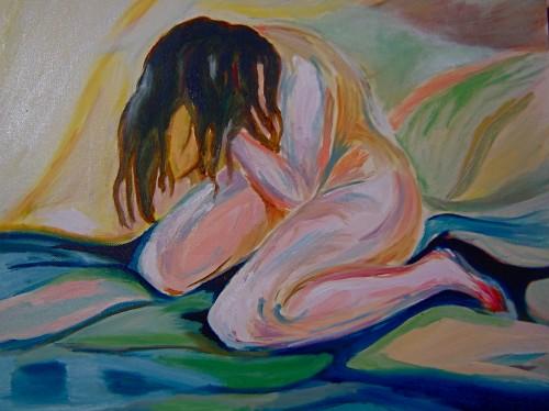 Munch, nu, pleurant, copie,